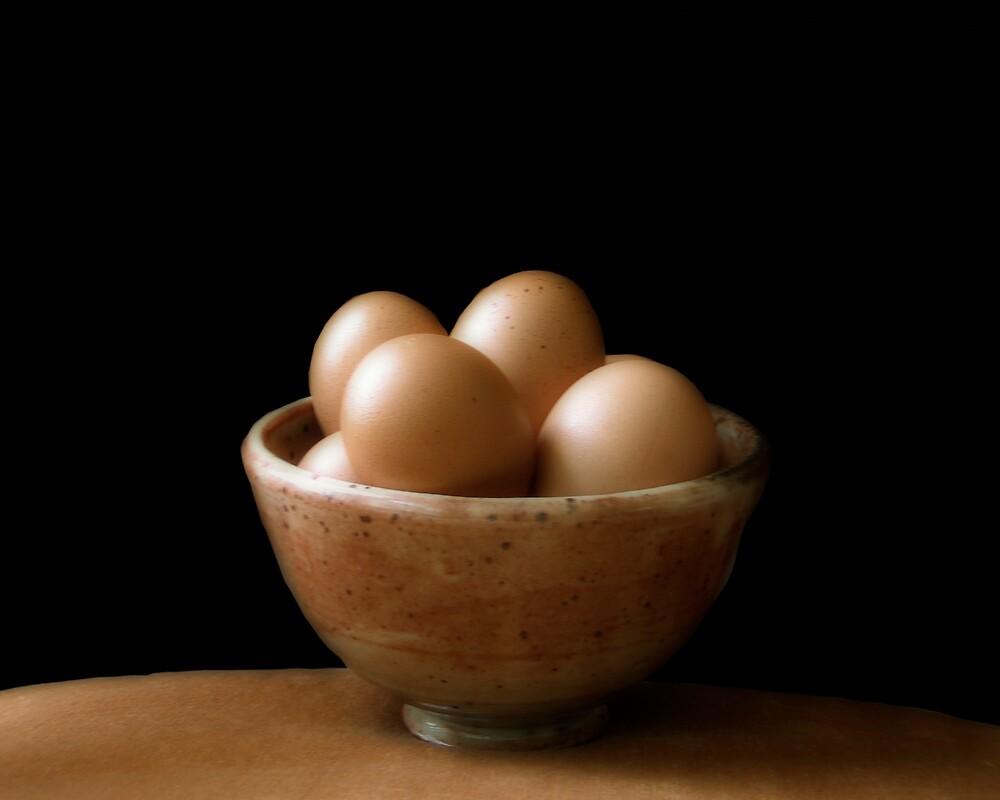 Brown Eggs  Brown Bowl by Jing3011