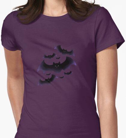Cute Bats Womens Fitted T-Shirt