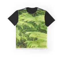 Decorative wall mural of green ferns Graphic T-Shirt