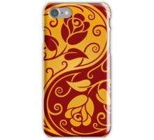 Red and Yellow Yin Yang Roses iPhone Case/Skin
