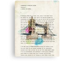 book page Canvas Print