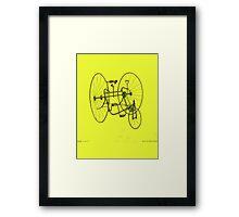 A Fancy Ride in Yellow Framed Print