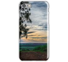 sunset on the farm iPhone Case/Skin