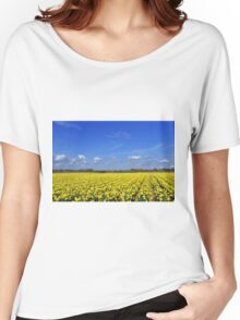 Daffodil fields in Hampshire, England Women's Relaxed Fit T-Shirt