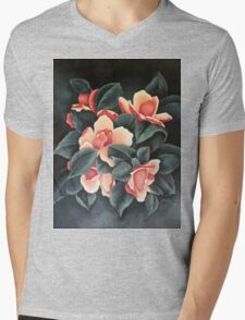Pink Magnolia - Magnolia Rosa - Magnolia Rose (Original) Mens V-Neck T-Shirt