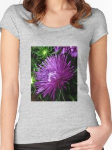 Starlight Blue Aster Women's Fitted Scoop T-Shirt