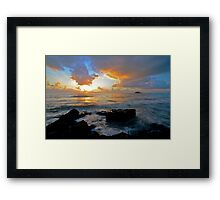 Thornton beach sunrise Framed Print