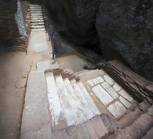 The Mystical Stairs of Sigiriya by Cole Stockman