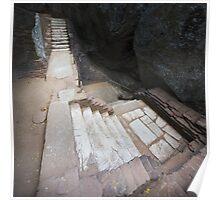 The Mystical Stairs of Sigiriya Poster