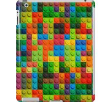 3D seamless pattern of plastic lego parts iPad Case/Skin