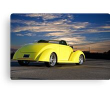 1937 Ford Roadster 'Far away places' Canvas Print