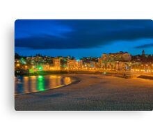 Coogee beach at dusk Canvas Print