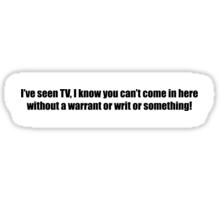 Ghostbusters - I've Seen TV - Black Font Sticker