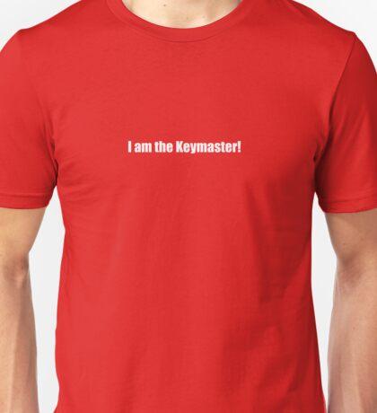 Ghostbusters - I am the Keymaster - White Font Unisex T-Shirt