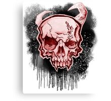 Red Demon Skull Canvas Print