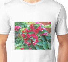 A section of pink Bougainvillea flowers Unisex T-Shirt