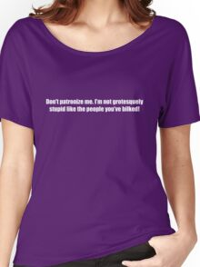 Ghostbusters - Don't Patroniz Me - White Font Women's Relaxed Fit T-Shirt