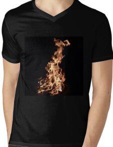 Burn Baby by Liz H Lovell Mens V-Neck T-Shirt