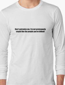 Ghostbusters - Don't Patroniz Me - Black Font Long Sleeve T-Shirt