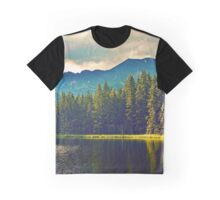 Lake surrounded by a forest Graphic T-Shirt