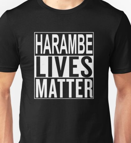 HARAMBE LIVES MATTER Unisex T-Shirt