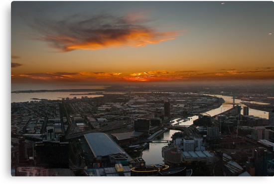 Sunset over the Yarra by Werner Padarin