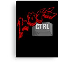 Lose Ctrl  (red) Canvas Print