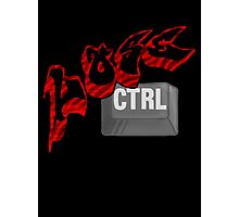Lose Ctrl  (red) Photographic Print