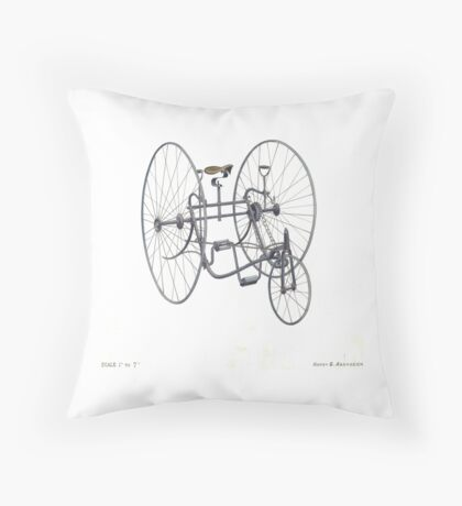 A Fancy Ride in White Throw Pillow