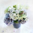 Summer Bouquet in Blue and White by LouiseK