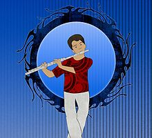 Flute Player by Janet Carlson