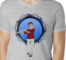 Flute Player Mens V-Neck T-Shirt