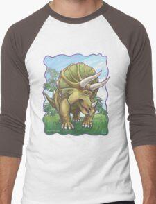 Animal Parade Triceratops Men's Baseball ¾ T-Shirt