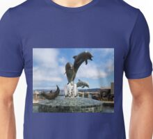 Dolphins Fountain Unisex T-Shirt