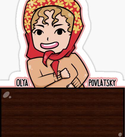 SNL - Olya Povlatsky Sticker