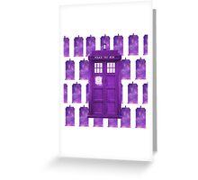 Doctor Who TARDIS Greeting Card