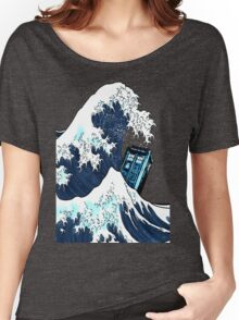 Space And Time traveller Box Vs The great wave Women's Relaxed Fit T-Shirt