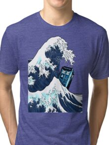 Space And Time traveller Box Vs The great wave Tri-blend T-Shirt