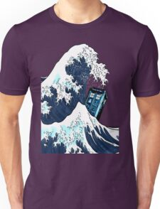 Space And Time traveller Box Vs The great wave Unisex T-Shirt