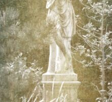 Statue of a Lady by a Pond Sticker