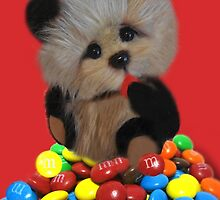 THE THINGS THAT MAKE U GO MM-BEAR EATING M&M's TABLET & IPHONE CASE by ✿✿ Bonita ✿✿ ђєℓℓσ