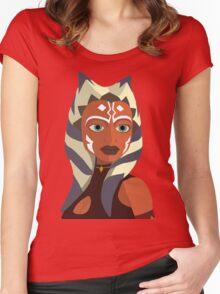 Ahsoka Tano vector art Women's Fitted Scoop T-Shirt