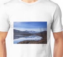 December Snow and Freezing Cold at Cluanie Dam Unisex T-Shirt