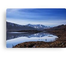 December Snow and Freezing Cold at Cluanie Dam Canvas Print