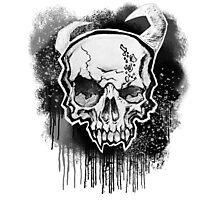 White Demon Skull Photographic Print