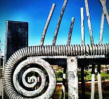 Walkway railings 2 by Janine Barr