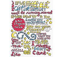 """Really Don't Care"" Lyrics Photographic Print"