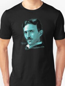 Nikola Tesla Portrait Science Electrical Unisex T-Shirt
