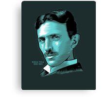 Nikola Tesla Portrait Science Electrical Canvas Print