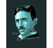Nikola Tesla Portrait Science Electrical Photographic Print